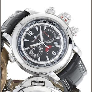 Jaeger LeCoultre. A fine stainless steel automatic chronograph wristwatch with 24 time zone indication and 65 hour power reserve Master Compressor, Extreme World Chronograph, Sold 25th February 2011