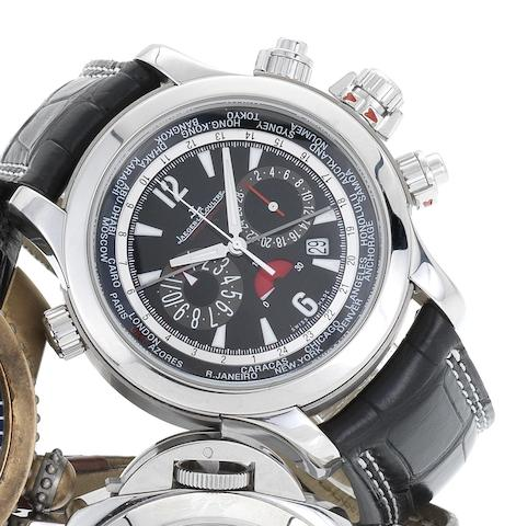 Jaeger LeCoultre. A fine stainless steel automatic chronograph wristwatch with 24 time zone indication and 65 hour power reserveMaster Compressor, Extreme World Chronograph, Sold 25th February 2011