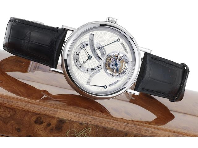 Breguet. A very fine platinum tourbillon wristwatch with power-reserve and 24 hour indicator Classique, Ref:3657PT, Case No.3913, Recent
