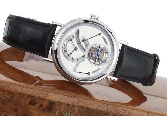 Breguet. A very fine platinum tourbillon wristwatch with power-reserve and 24 hour indicator Classique, Ref:3657PT, Case No.3913, Recent