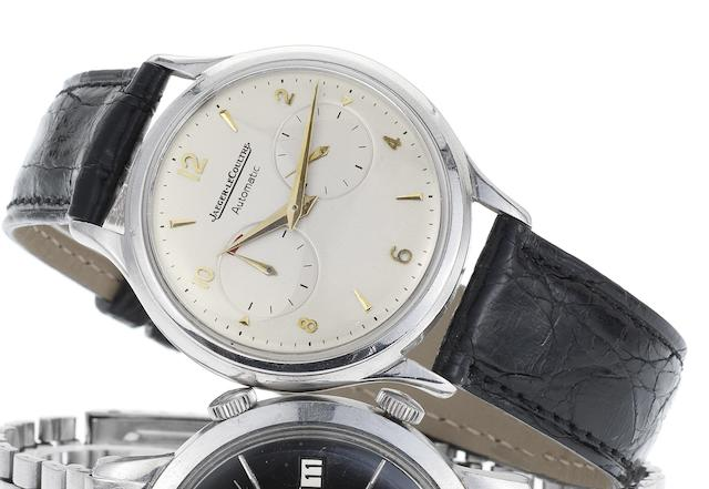 Jaeger LeCoultre. A fine stainless steel automatic wristwatch with power reserve Futurmatic, Circa 1955