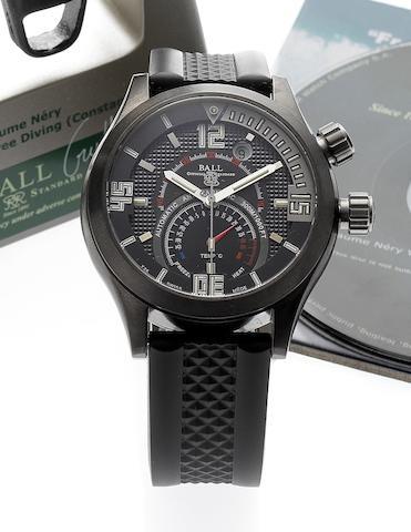 Ball. A fine DLC titanium cased automatic diving wristwatch with temperature displayDiver TMT, Circa 2006