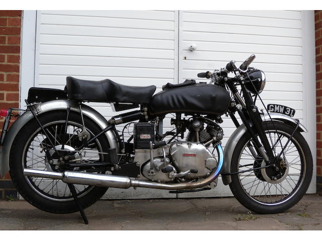 1952 Vincent 499cc Comet Frame no. RC/3674 Engine no. F5AB/2A/3772