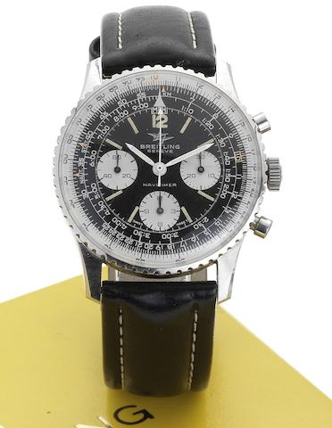 Breitling. A stainless steel manual wind chronograph wristwatch together with original box and papers Navitimer, Ref:806, Case No.1158664, Circa 1960