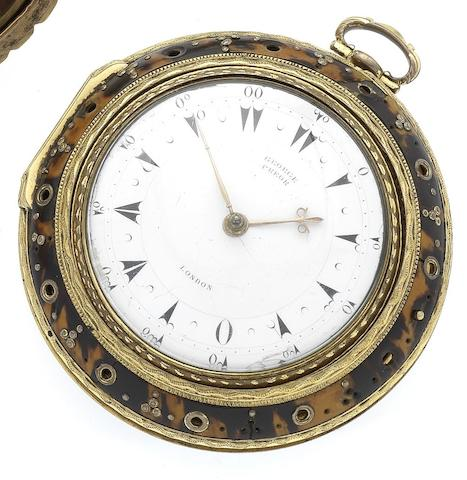 Markwick Markham and Borrell. A fine and rare triple case repeating clock watch made for the Turkish marketNumbered 21968, dial signed George Prior, London circa 1790