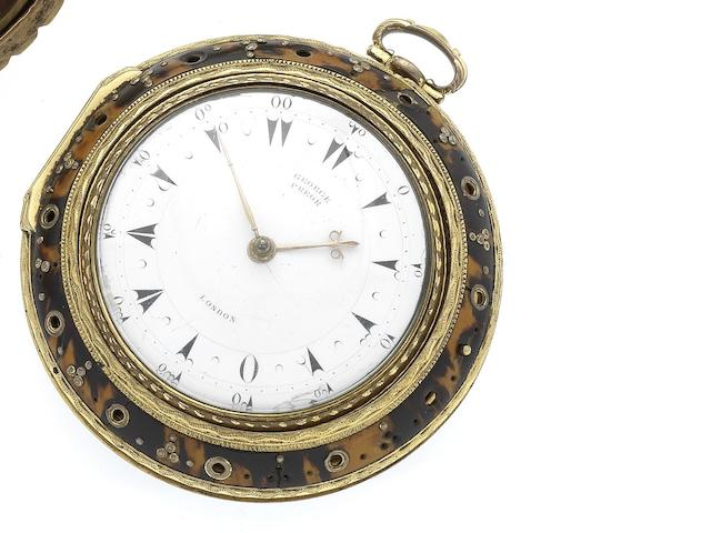 Markwick Markham and Borrell. A fine and rare triple case repeating clock watch made for the Turkish market Numbered 21968, dial signed George Prior, London circa 1790