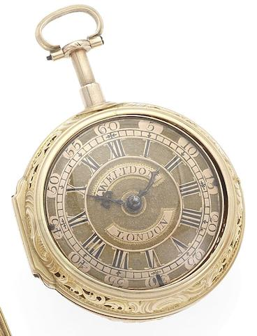 Weltdon. A late 18th century pair case quarter repeating pocket watchCirca 1790