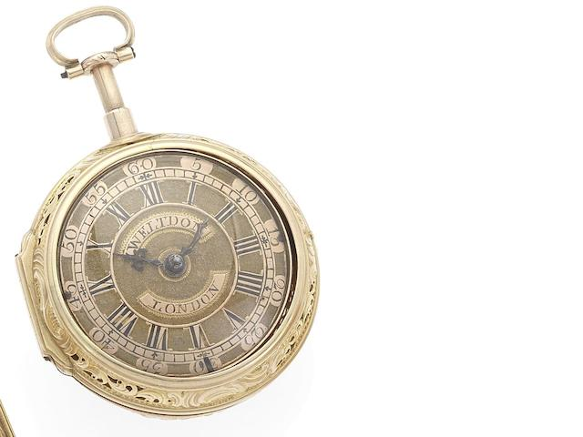 Weltdon. A late 18th century pair case quarter repeating pocket watch Circa 1790