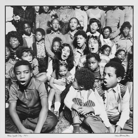 Ian McMillan: John and Yoko Ono Lennon and the Harlem Community Choir, 1971,