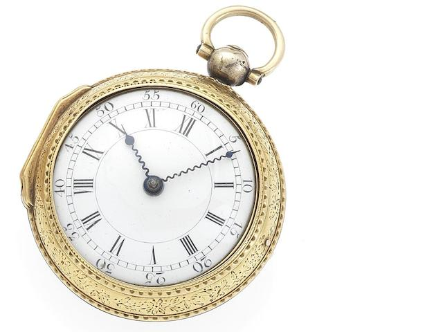 Archibald Dalziel. A fine mid 19th century 18ct gold pair case open face pocket watchLondon Hallmark for 1853