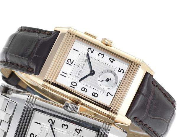 Jaeger LeCoultre. A fine 18ct rose gold manual wind wristwatch Reverso Night & Day, Ref:272-2-51, Case No.2555604, Recent