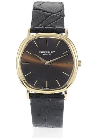 Patek Philippe. A fine 18ct gold automatic hexagonal shaped wristwatch together with Extract from ArchivesRef:3861, Case No.544814, Movement No.1191908, Sold September 24th, 1980