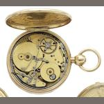 Swiss. A fine gilt metal musical and repeating pocket watchCirca 1860