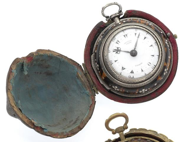 George Prior. A fine silver late 18th century triple case pocket watch made for the Turkish market Numbered 31716