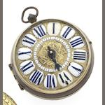 N. Mornand. A fine and rare late 17th century Oignon pocket watch with mock pendulumCirca 1695