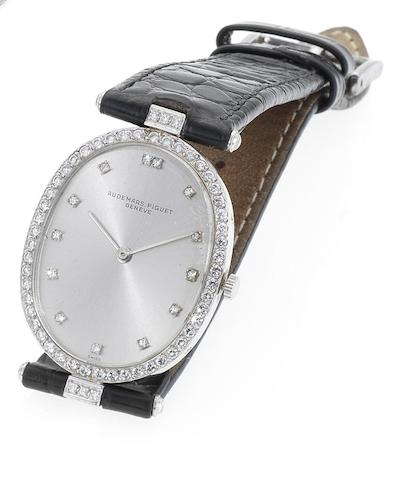 Audemars Piguet. A lady's fine 18ct white gold and diamond set manual wind wristwatch Movement No. 240129, Circa 1985