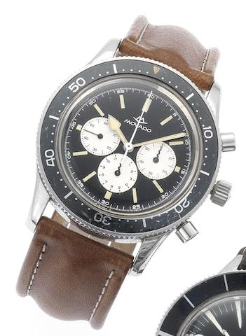 Movado. A fine and rare stainless steel chronograph wristwatchCirca 1970
