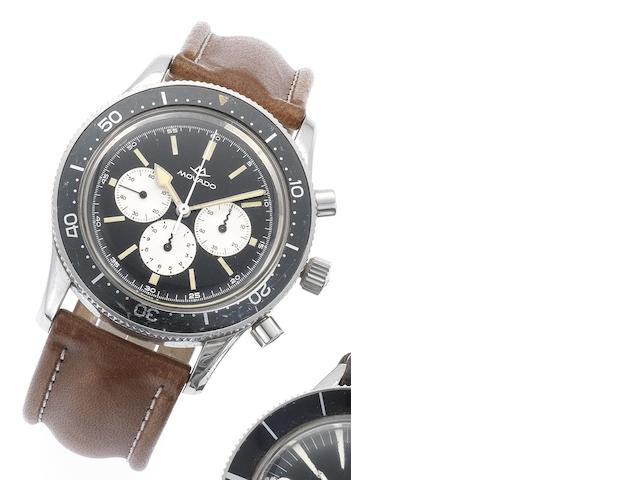 Movado. A fine and rare stainless steel chronograph wristwatch  Circa 1970