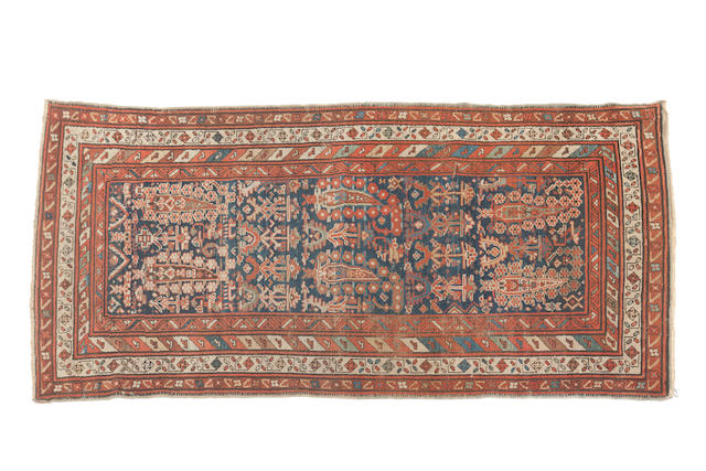 A Karabagh long rug 215cm x 94cm, and 215cm x 99cm
