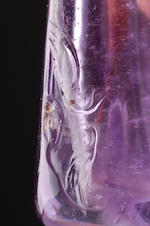 An amethyst snuff bottle Probably school of the Rustic Crystal Master, 1770–1880