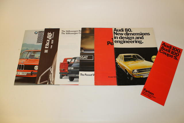 A collection of sales brochures, manuals and hand books relating to German marques