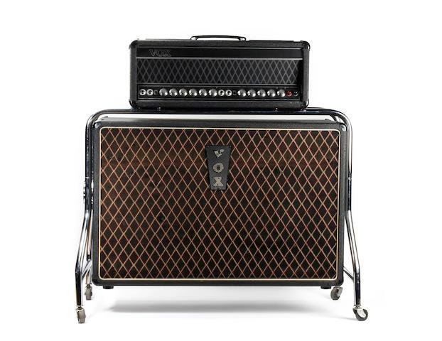 George Harrison/The Beatles: a rare Vox UL730 amplifier and cabinet, used for 'Revolver' and 'Sgt. Pepper' recording sessions,