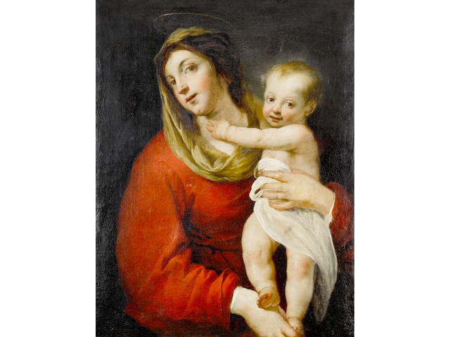 Attributed to Jacques Blanchard (Paris 1600-1638) The Madonna and Child