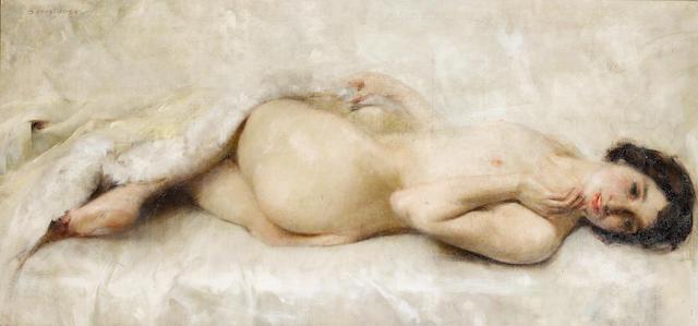 Luigi Serralunga (Italian, 1880-1940) Reclining nude