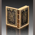 ####################18th century French tortoiseshell and vari-coloured gold inlaid panels mounted as a snuff box