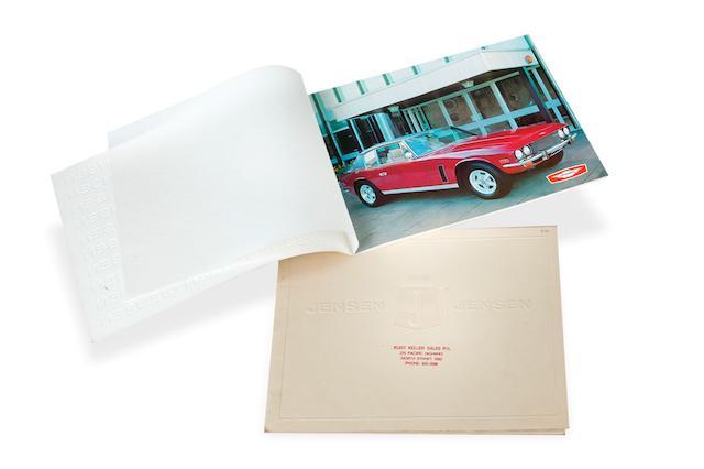 A pair of sales brochures relating to the Jensen Interceptor