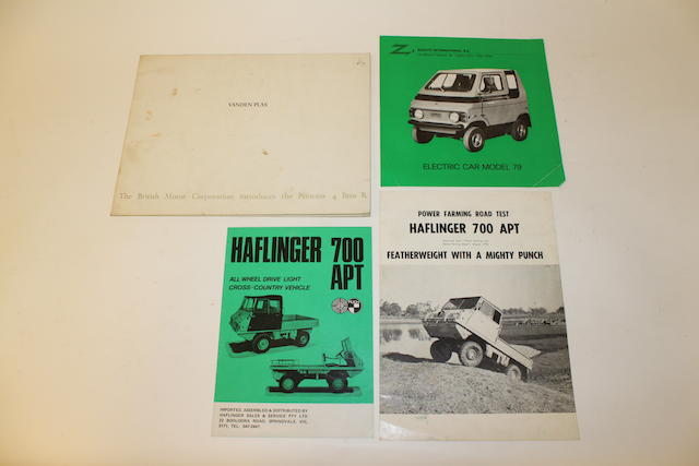 A collection of sales brochures relating to Haflinger