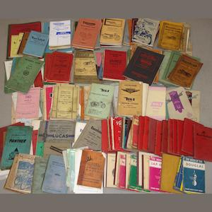A good quantity of assorted motorcycle instruction books,