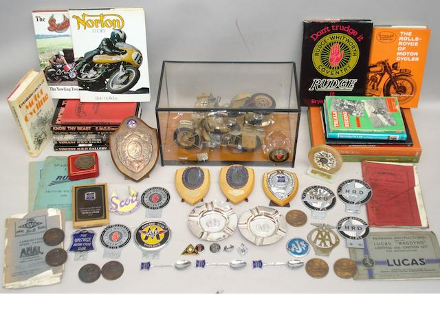 A good lot of assorted motorcycling collectables,