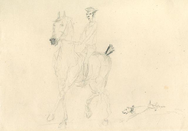 Henri de Toulouse-Lautrec (1864-1901) Recto - Cavalier / Verso - Cheval