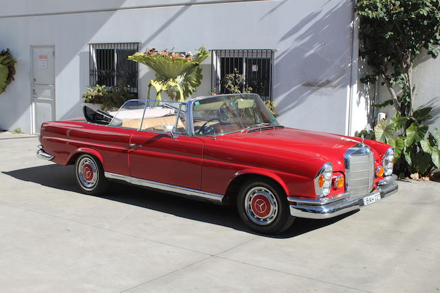 1965 Mercedes-Benz 220SE Cabriolet  Chassis no. 11101262105777 Engine no. 12998022017026