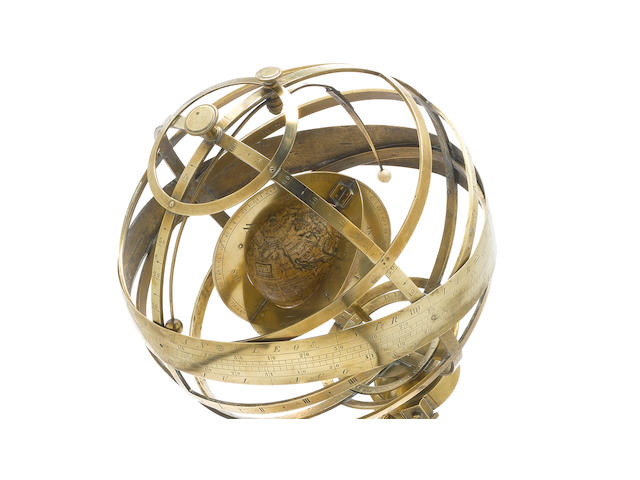 A rare George Adams armillary sphere, English, late 18th century,