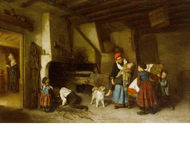 Théophile Emmanuel Duverger (French, 1821-1886) Tired out