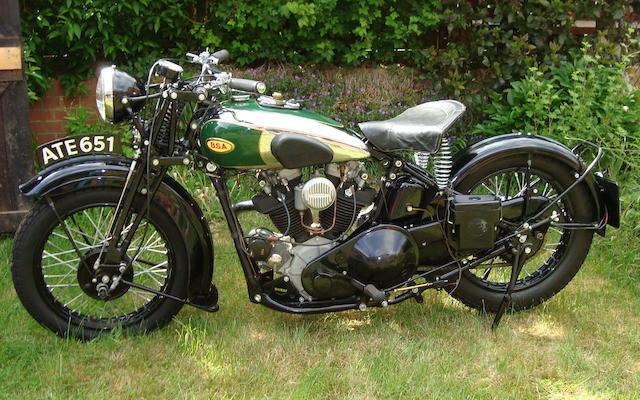1936 BSA 750cc Model Y13 Frame no. D13 380 Engine no. D13 318
