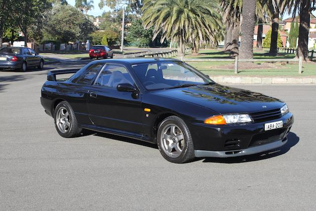 One of 100 Australian delivered,1991 Nissan Skyline R32 GT-R  Chassis no. 6F4KBNR32A0016034 Engine no. RB26018614A