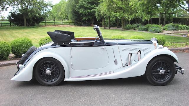 1938 Aston Martin 15/98hp Short Chassis 2-litre Drophead Coupé with Dickey  Chassis no. D8/840/SC