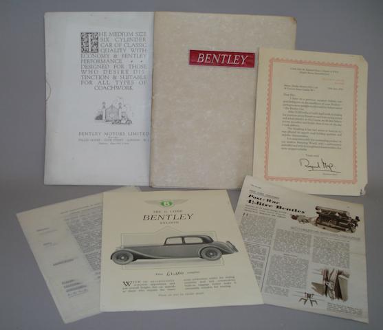 Bentley sales literature,