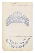 Ksenia (Xenia) Alexandrovna, Grand Duchess of Russia (6 April 1875 – 20 April 1960)PERSONAL ILLUSTRATED INVENTORIES OF JEWELLERY AND BIBELOTS FROM 24TH JUNE 1880 TO 1905, AND OF JEWELLERY FROM 12 JANUARY 1894 TO 25 MARCH 1912, IN TWO VOLUMES
