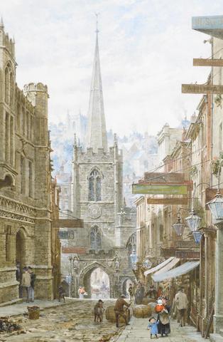 Louise J. Rayner (British, 1832-1924) Broad Street, Bristol