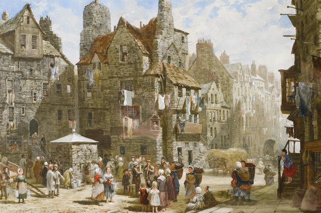Louise J. Rayner (British, 1832-1924) John Knox's House, Edinburgh