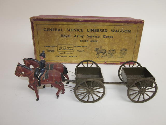 Britains set 1329, Royal Army Service Corps General Service Limbered Waggon 4