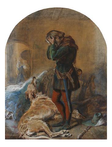 Circle of Sir John Everett Millais, PRA (British, 1829-1896) The Death of Gelert