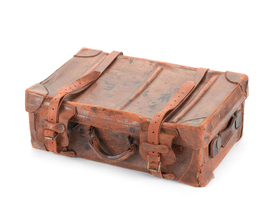 A crew suitcase, RMS Titanic 22x14x8ins.(56x36x20cm) 8