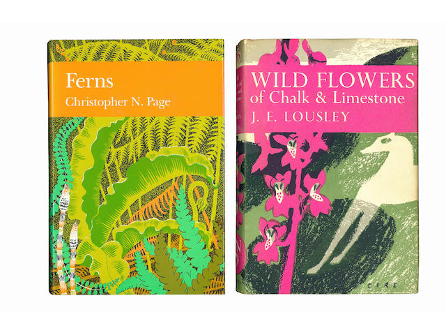 NEW NATURALIST PAGE (CHRISTOPHER NIGEL) Ferns, 1988--CORBET (PHILIP STEVEN) Dragonflies, 1960--TUBBS (COLIN RODNEY) The New Forest, 1986--LOUSLEY (JOB EDWARD) Wild Flowers of Chalk & Limestone, 1950--EDLIN (HERBERT LEESON) Trees, Woods and Man, 1956--FITTER (RICHARD SYDNEY RICHMOND) London's Natural History, 1946