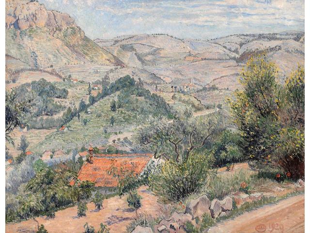 Lucien Pissarro (British, 1863-1944) View of Revest 50.3 x 65.5 cm. (20 x 26 in.)