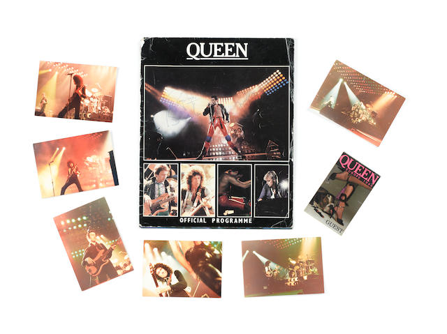 An autographed Queen European Tour 1980 programme,